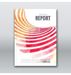 Cover Report Business Colorful Stripes Triangle vector