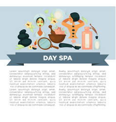 Day spa service promotional banner with sample vector
