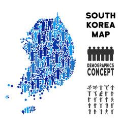 Demographics south korea map vector