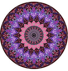 drawing of a floral mandala vector image