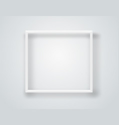 Empty white frame on a wall template vector