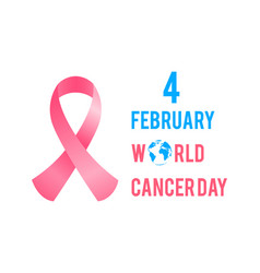 february is world cancer day breast cancer vector image