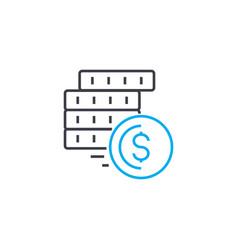Financial flows thin line stroke icon vector