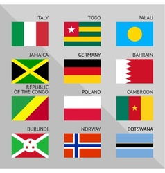 Flags of world flat Set number 06 vector
