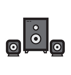 Flat color sound system icon vector