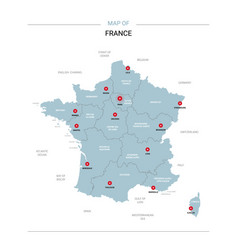 France map with red pin vector