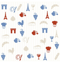 French seamless pattern vector image