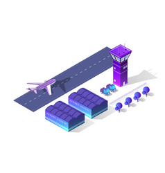 Future 3d isometric airport vector