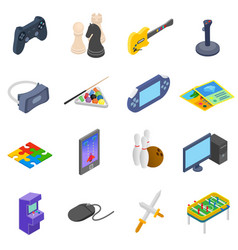 Games icons set vector image