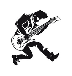 Guitarist playing songs on vector