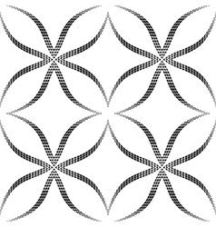 Halftone Geometric Seamless Pattern vector image