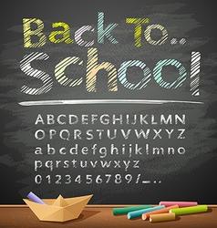 Hand drawn sketch alphabet pastel color message vector