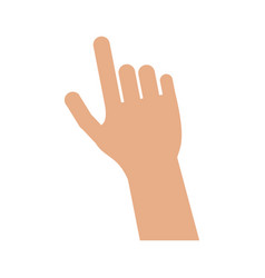 hand pointing with index finger icon image vector image