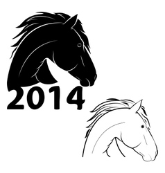 horse symbol of the new year vector image