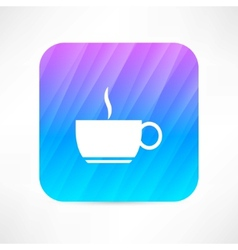 Hot cup vector image