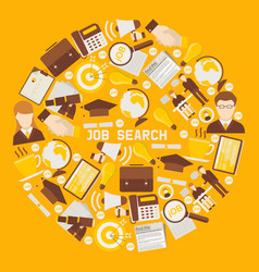job search career recruitment occupation career vector image