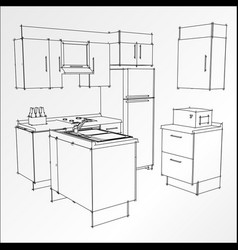 Kitchen trace i vector