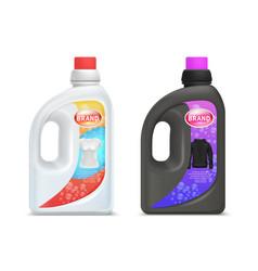 laundry detergent bottles washing detergent for vector image