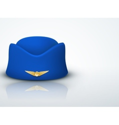 Light Background Stewardess hat of air hostess vector image