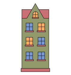living building facade house front exterior vector image