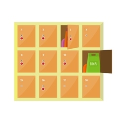 Lockers in flat style design vector