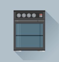 Modern flat design concept icon kitchen stove vector