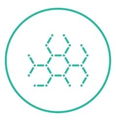 Molecule line icon vector
