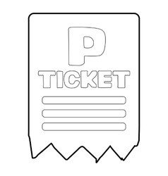 Parking ticket icon isometric 3d style vector
