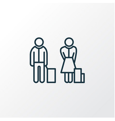 passenger icon line symbol premium quality vector image