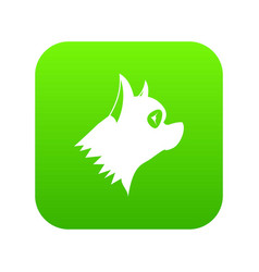 pinscher dog icon digital green vector image