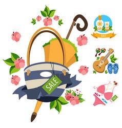 sale umbrella ladies handbag guitar swimwear vector image