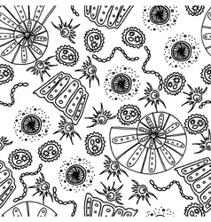Seamless pattern Sea shells and animals vector