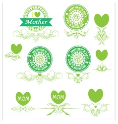 set banner and elements mother day vector image