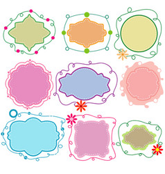 set paper frames in different shapes vector image