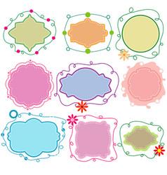 set paper frames in different shapes vector image
