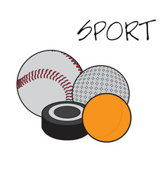 Set sport balls vector