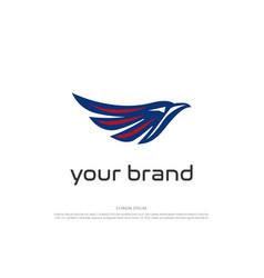 simple minimalist eagle hawk falcon bird head vector image