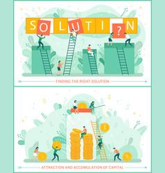 Solution teamwork team accumulation wealth vector