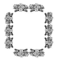 Square frame deoration floral vector