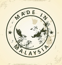 Stamp with map of Malaysia vector image