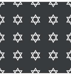 Straight black Star David pattern vector image
