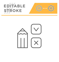 survey editable stroke line icon vector image