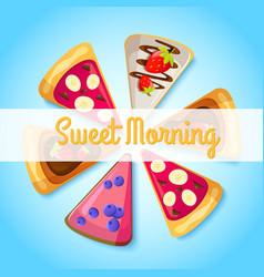 Sweet breakfast template vector