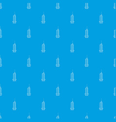 syringe with needle pattern seamless blue vector image