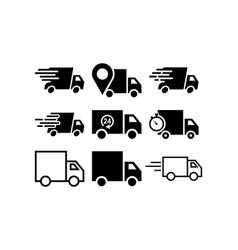 truck icon design template graphic vector image