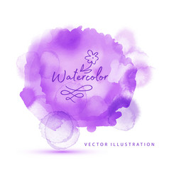 violet watercolor painted stain abstract vector image