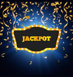 winner background jackpot vector image