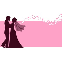 Bride and groom at the wedding background vector image vector image