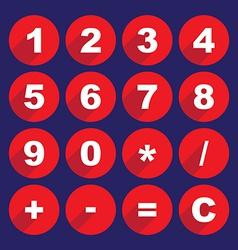 Calculator keys vector image vector image
