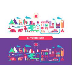 environment design flat concept vector image vector image